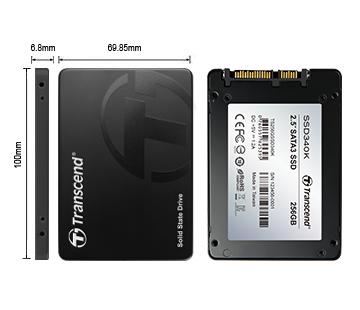 """SSD - Transcend - SSD SATA 3 - 2.5"""" MLC SATA III 6GB / S Internal 256GB"""