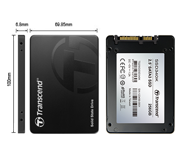 "SSD - Transcend - SSD SATA 3 - 2.5"" MLC SATA III 6GB / S Internal 256GB"