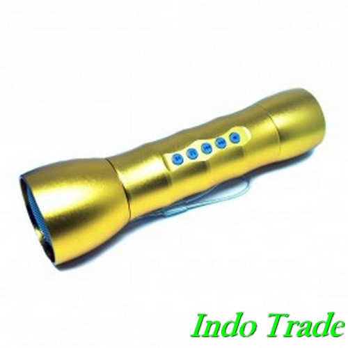 Multifunction LED Flashlight Dengan MP3 Player TF Card Slot JK-408 Go