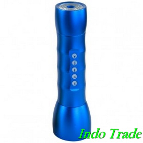 Multifunction LED Flashlight Dengan MP3 Player TF Card Slot JK-408