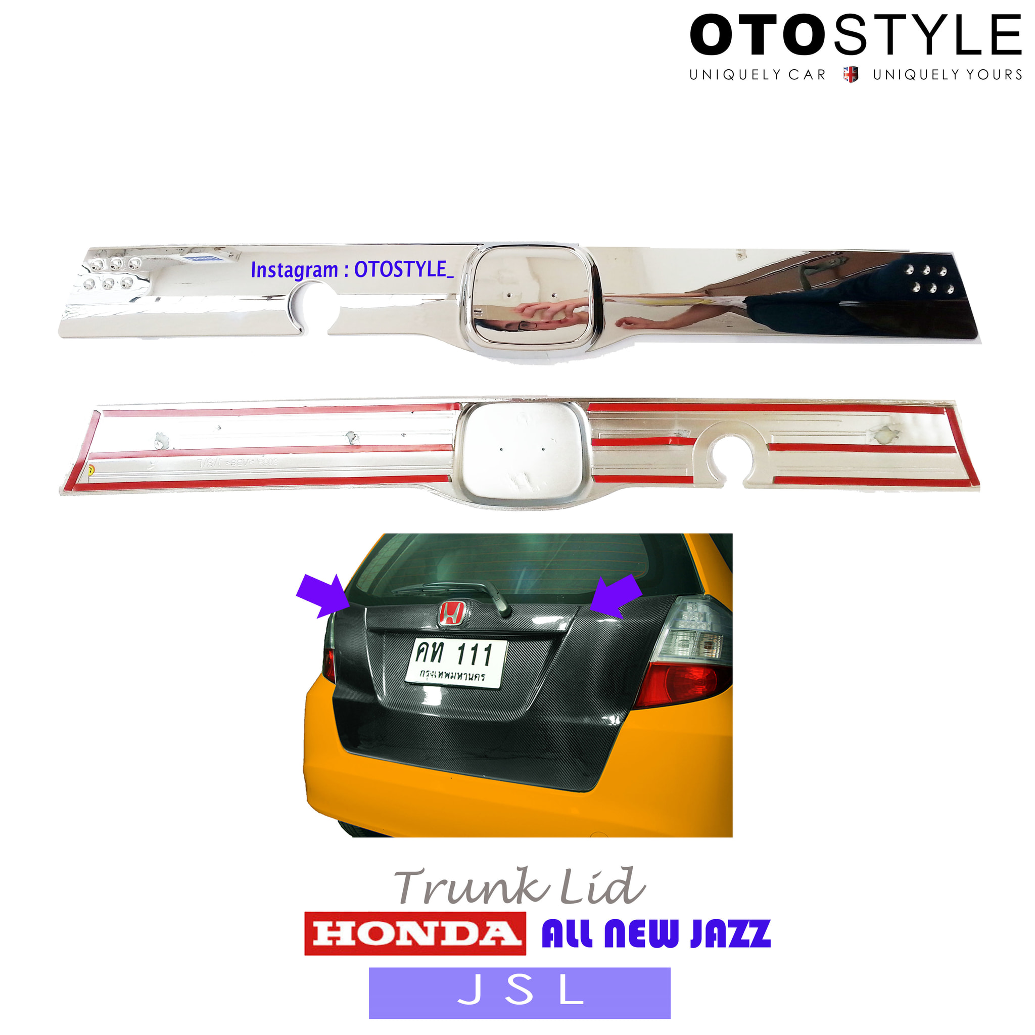 Trunk Lid All New Jazz Original / TrunkLid Jazz