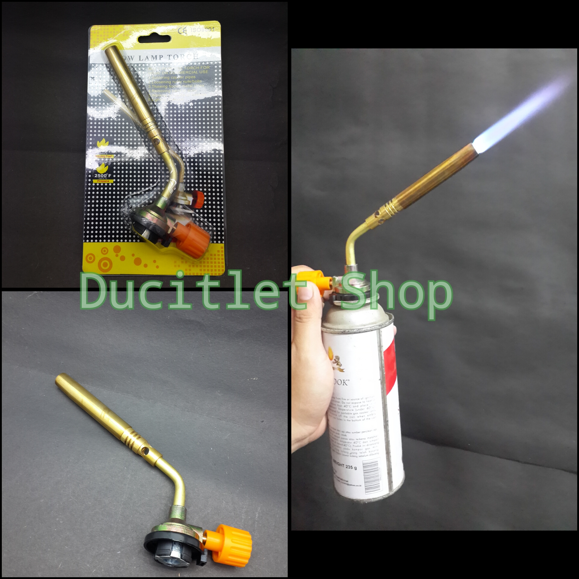Tabung Gas Portable : Jual kepala korek tabung gas las portable tembaga blow
