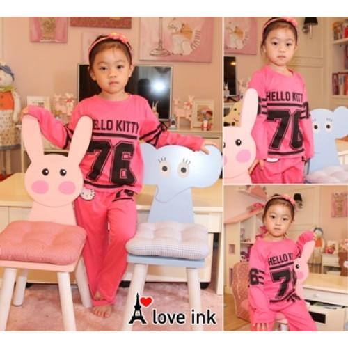 STKDHK121 - Setelan Anak Piyama Hello Kitty 76 Pink Murah