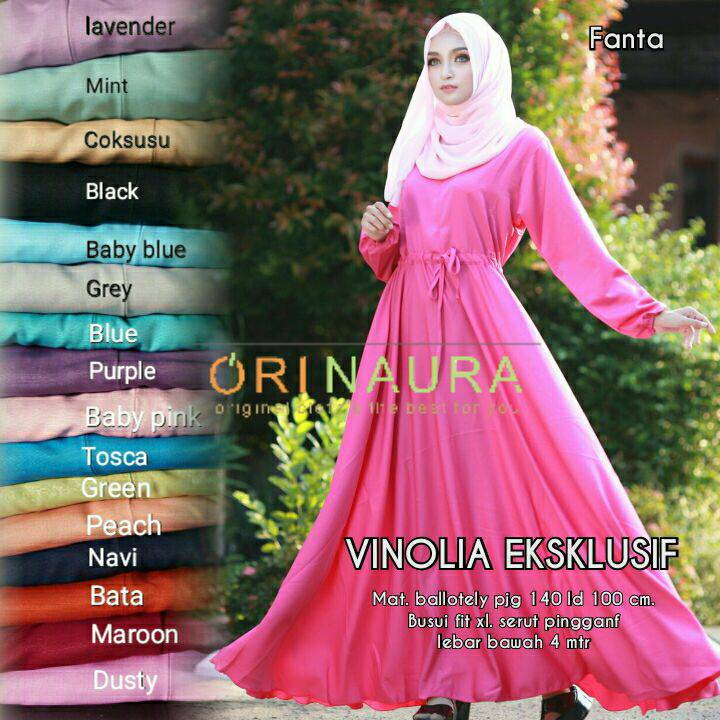 GMNAU VINOLIA (Busana Wanita,Busana Muslim,Gamis ,Hijab,Dress)
