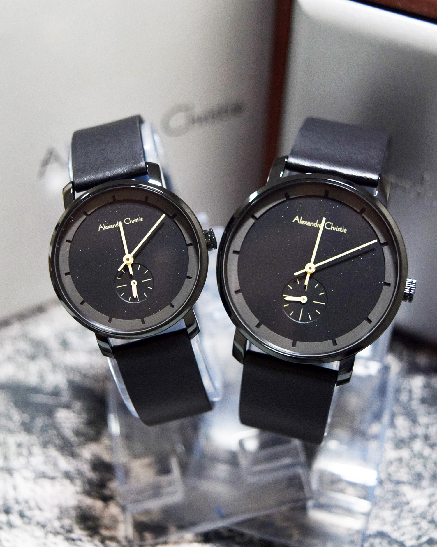 Alexandre Christie Jam Tangan Couple Leather Strap Ac 8485 Black Pria Expedition 6339 Mclipbasl Original Jual Full Anita Watches Tokopedia