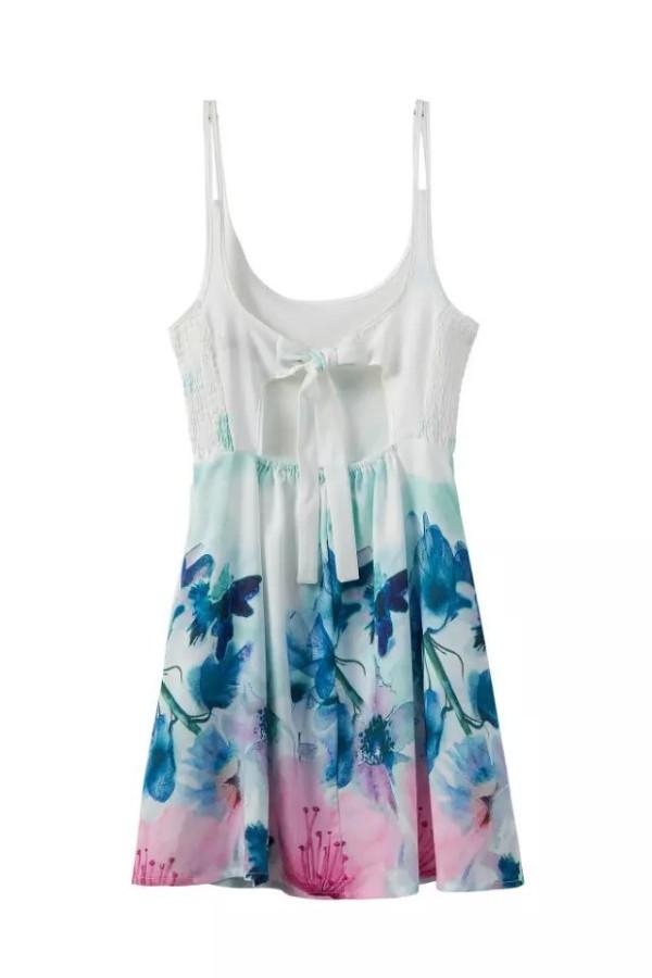 Jual Beachwear Backless Dress iPantaii Bunga Flower B212029