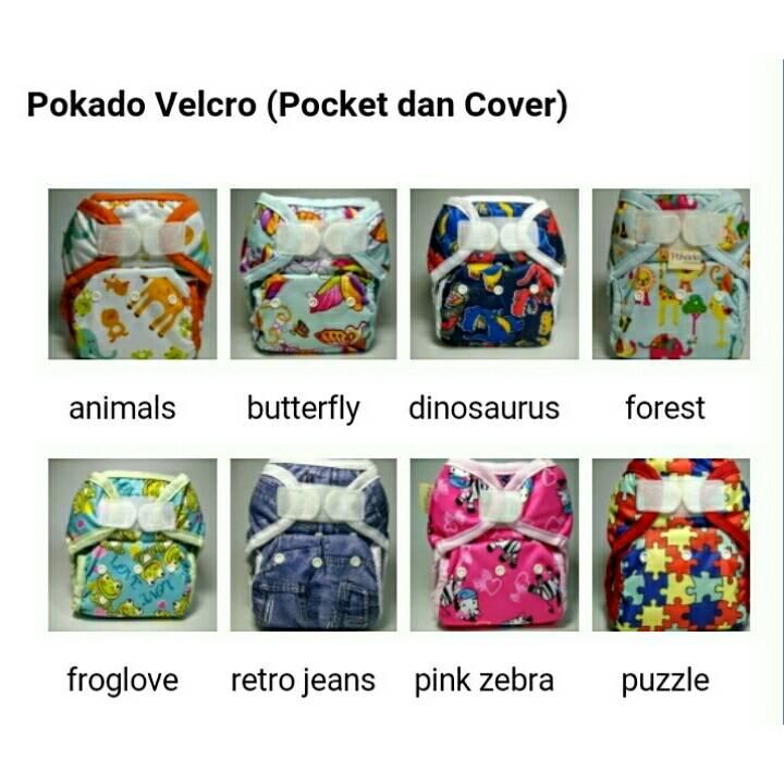 Pokado Popok Kain Cuci Ulang Cloth Diapers Motif Forest. Source · Pokado Snap/velcro Motif Dengan 1 Insert /clodi Murah/popok .
