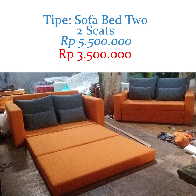 Jual Sofa Bed Two Kursi Sofabed Minimalis Murah Apartemen Rumah