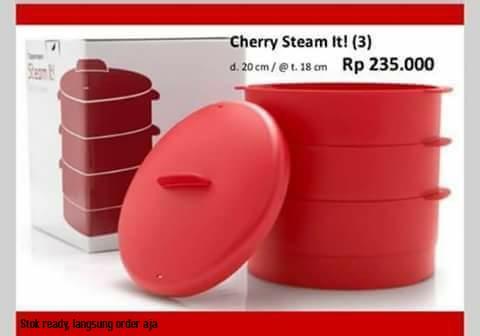 Tupperware Cherry Steam It! (3) / Alat Kukus / Pengukus Murah
