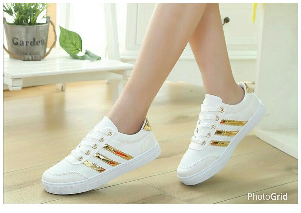 Sepatu sneaker murah SKL50 Adidas Rep. Putih sepatu Kets wanita ... 3cd8ddf387