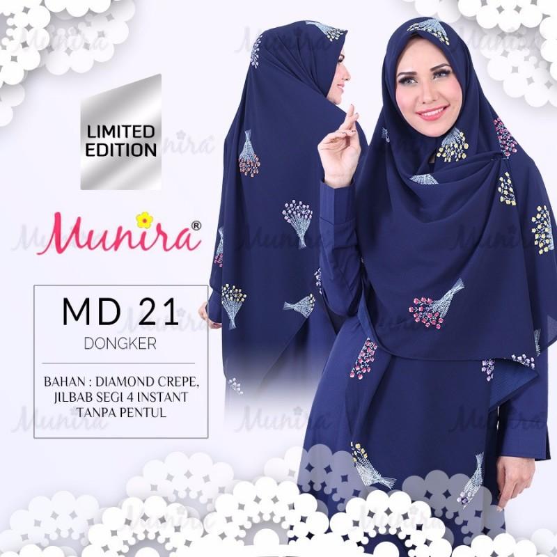 Jual Kerudung Hijab Munira Dewasa Segiempat Motif Instan Diamond