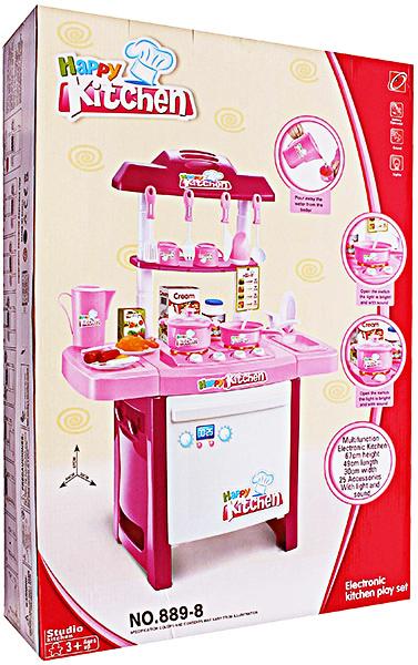 jual happy kitchen set pink 889