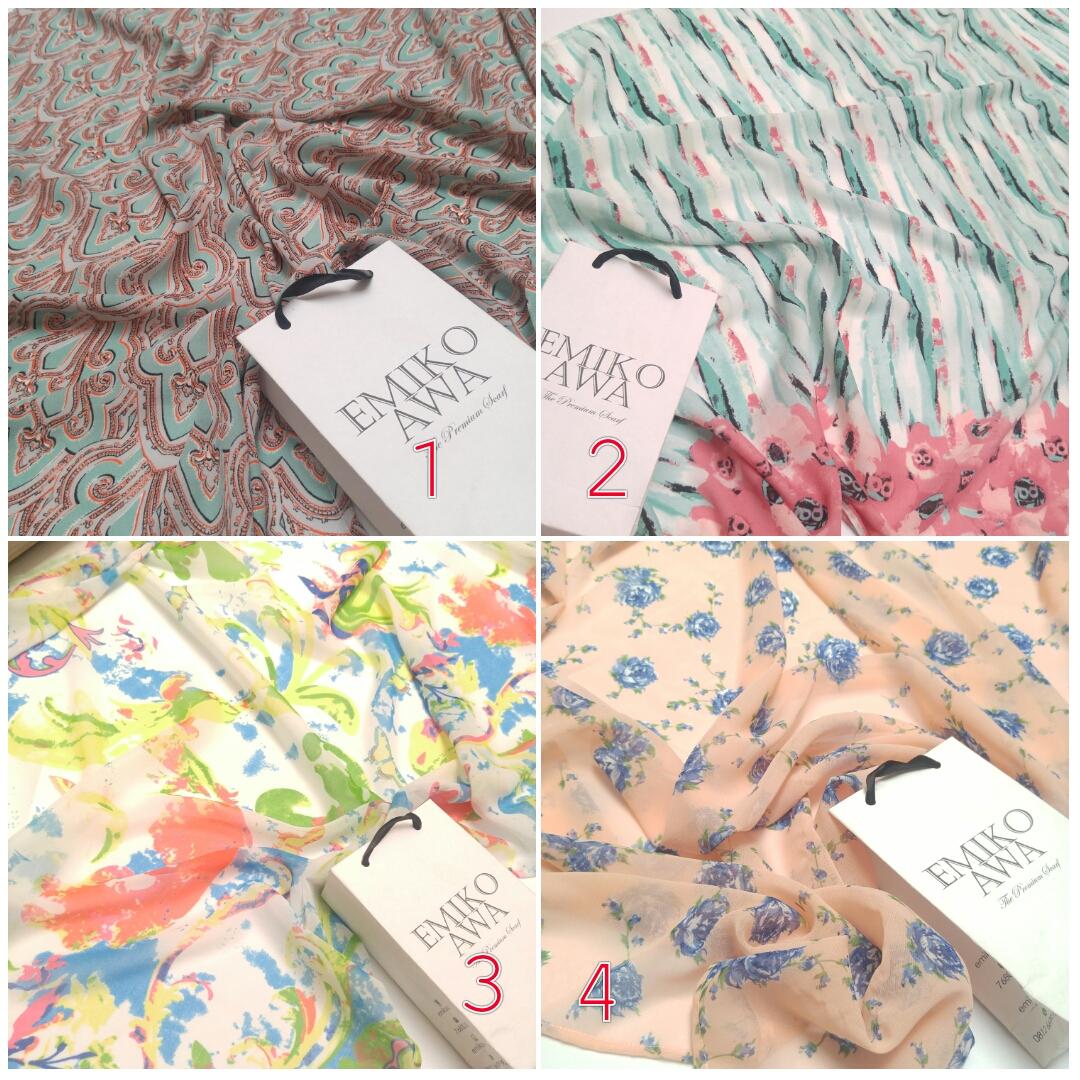 motif 4 - Scarf / Pashmina motif / Hijab / Syal / Shawl