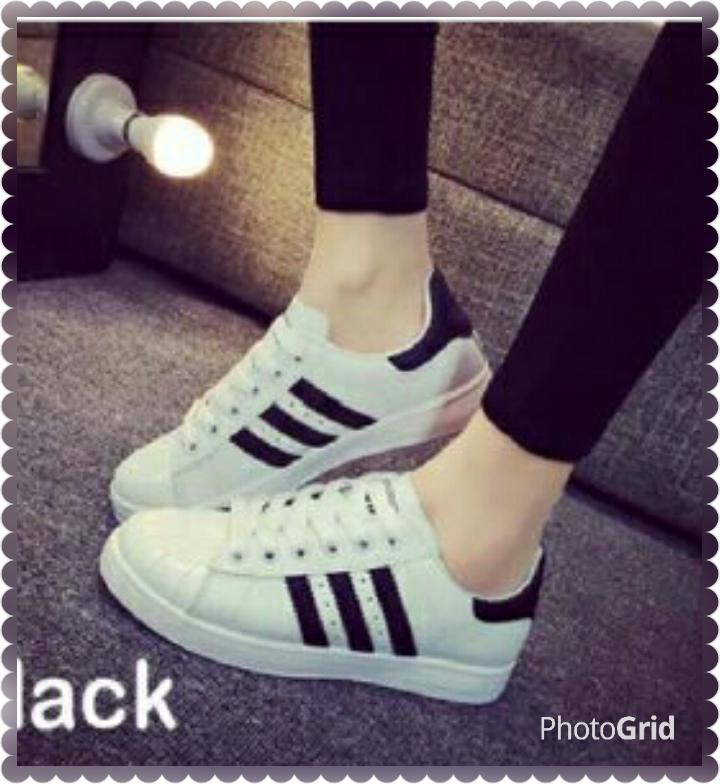 Sepatu sneaker murah SKL54 Adidas Rep. Putih hitam sepatu Kets ... 5600ac45bd