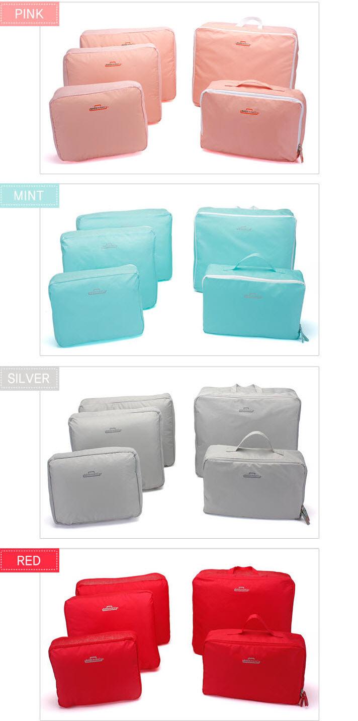 ... bags in bag travelling 5 in 1 travel organizer tas set dpt 5 bag
