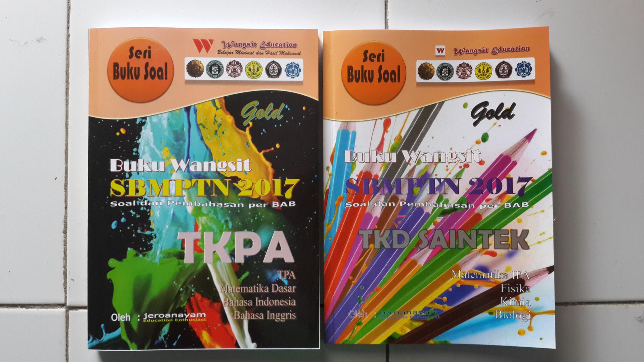 Jual Buku Wangsit Sbmptn 2017 Tkpa Saintek Gold Buku Wangsit Sbmptn Tokopedia