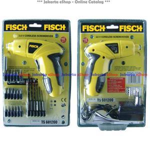Fisch Cordless Screwdriver Ts601200 (Bor Obeng Elektrik) Murah Yuk