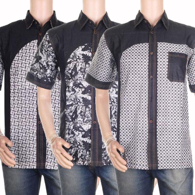 Model Kemeja Batik Kombinasi Polos Trend Koleksi Gambar Terbaru