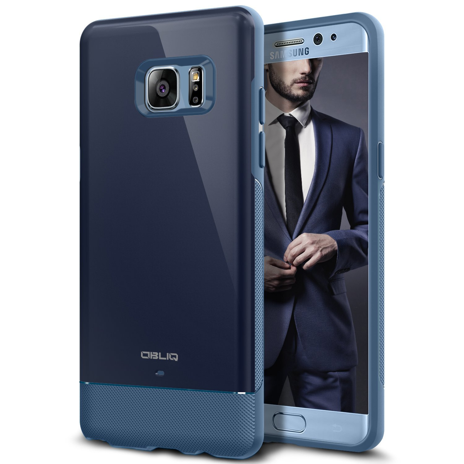 OBLIQ Dual Meta Case Samsung Galaxy Note 7 Case - NAVY BLUE