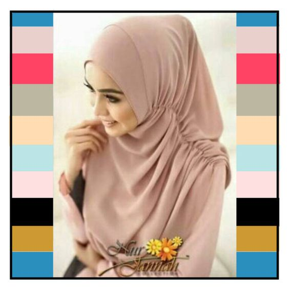 Hijab / Khimar / Jilbab / Pashmina Instan Nurjannah