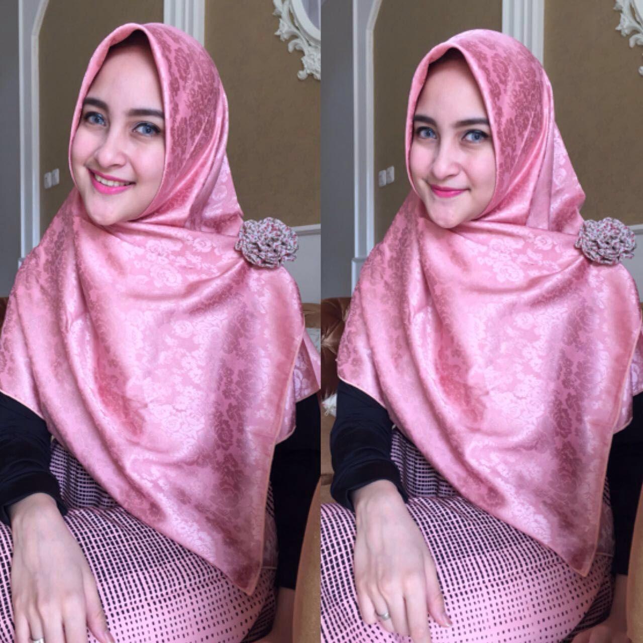 Jual Jilbab Segi 4 Diamond Rose Segi Empat Diamond Rose