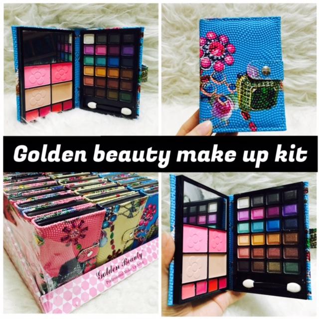 ... Jual Dompet besar Golden beauty make up kit eyeshadow bedak lipstik