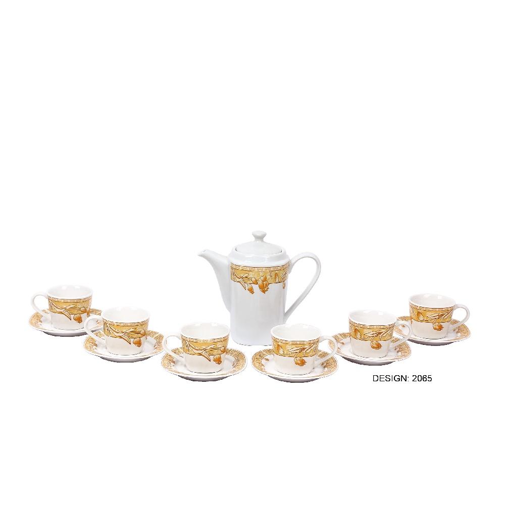 Jual Home Line Tea Set Segi Bunga Mawar - Gold Limited - TOKO MAKMUR BARU | Tokopedia