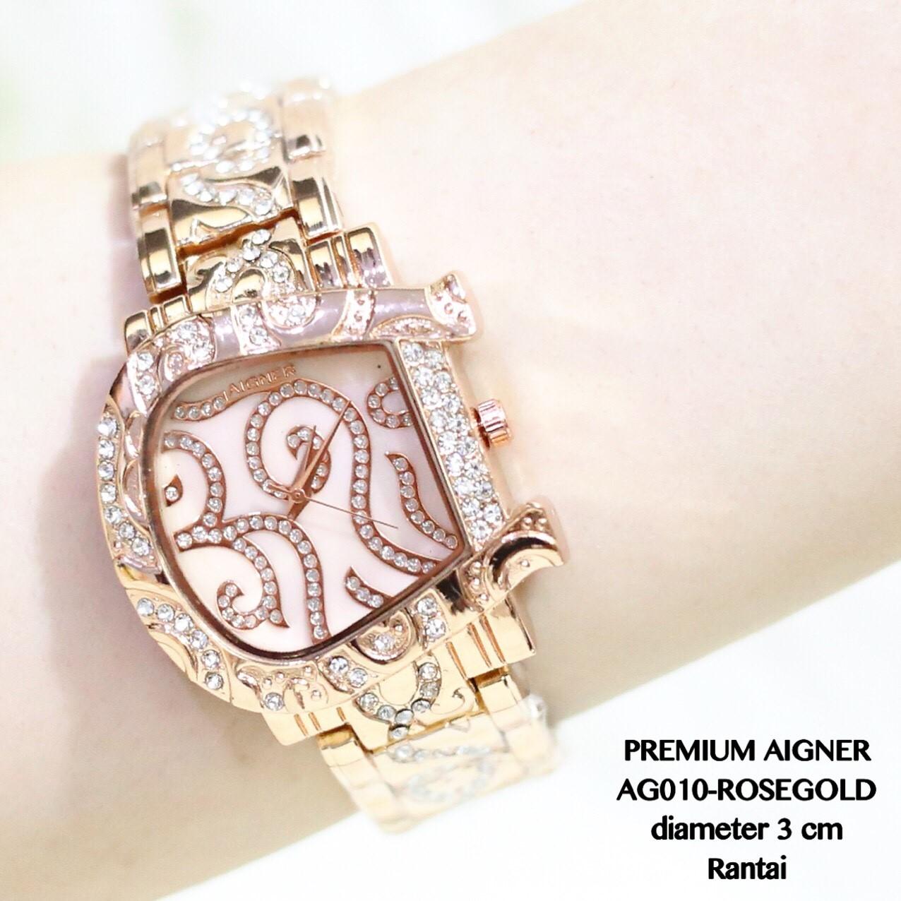 Jam tangan aigner wanita termurah fashion casual premium grosir