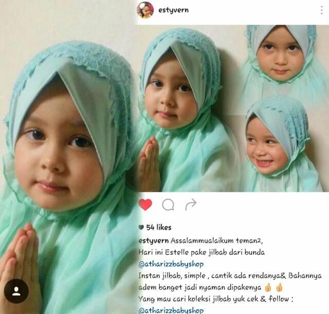 Hijab Baby Anaya Kerut Renda (Size S dan M)