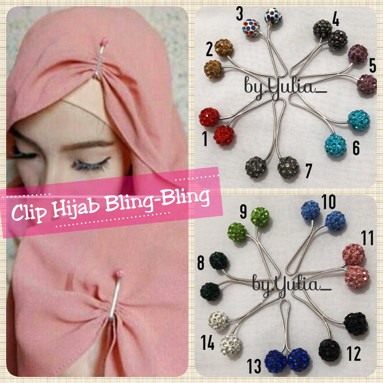 Clip Hijab Bling-Bling / Clip Jilbab / Klip Hijab Murah