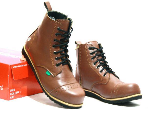 sepatu boot safety ujung besi kickers pajero tan
