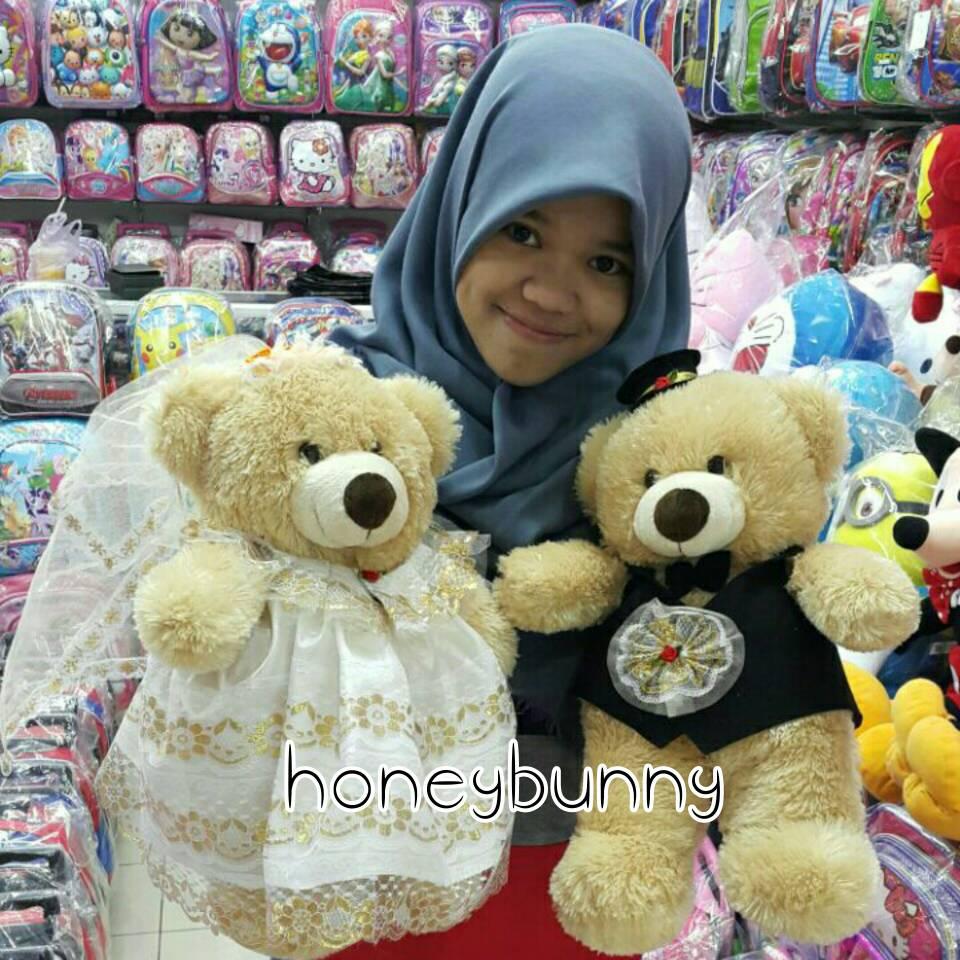 Jual Boneka teddy bear wedding (bear couple beruang sepasang ... d0c89b4f7a