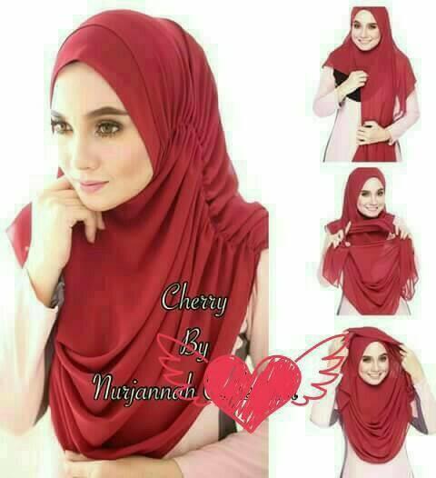kerudung jilbab hijab atasan wanita instan ceruti premium murah