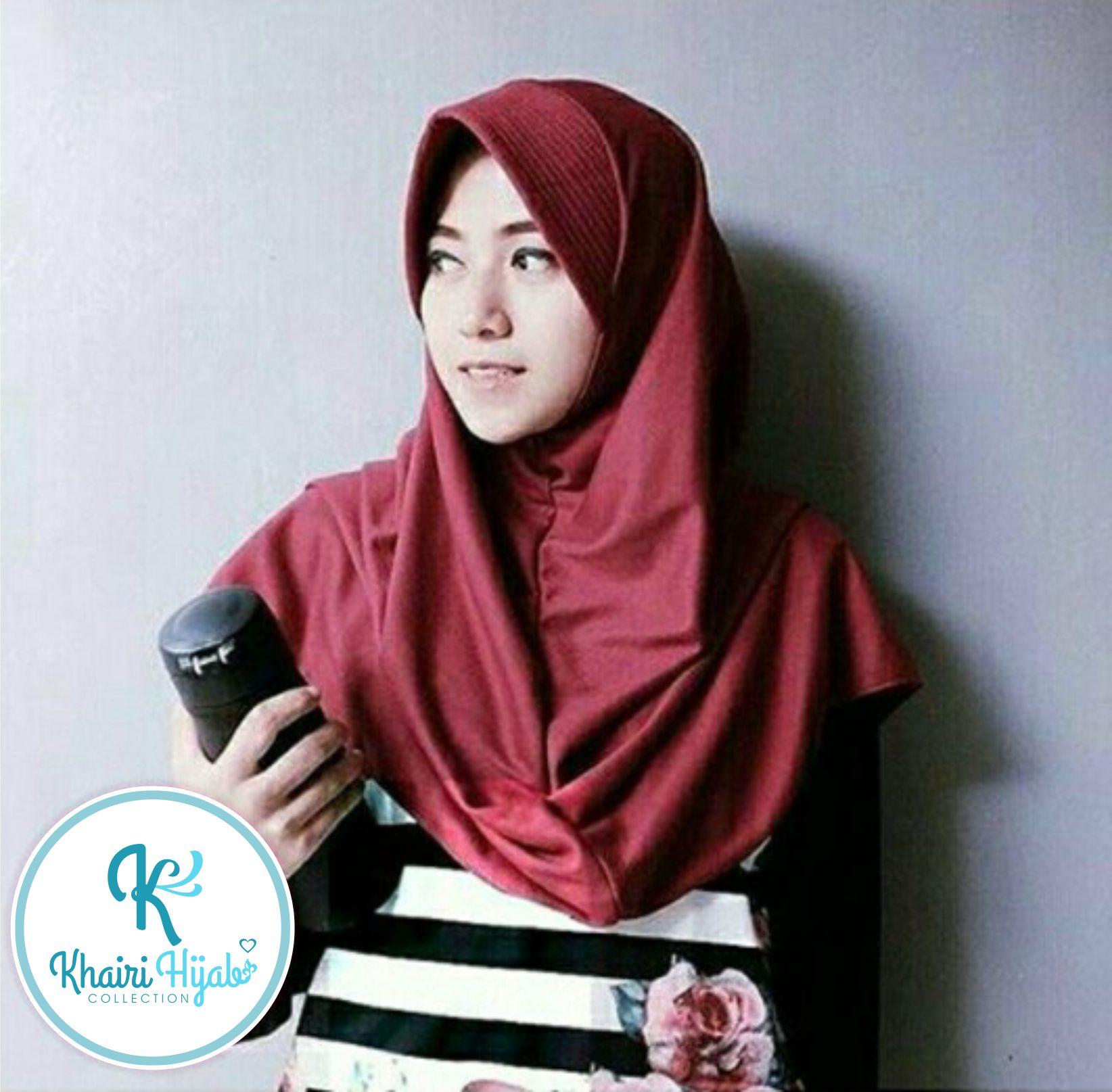Jual Jilbab Polos Hijab Kaos Jilbab adem Jilbab Sekolah Size XL Khairi Hijab