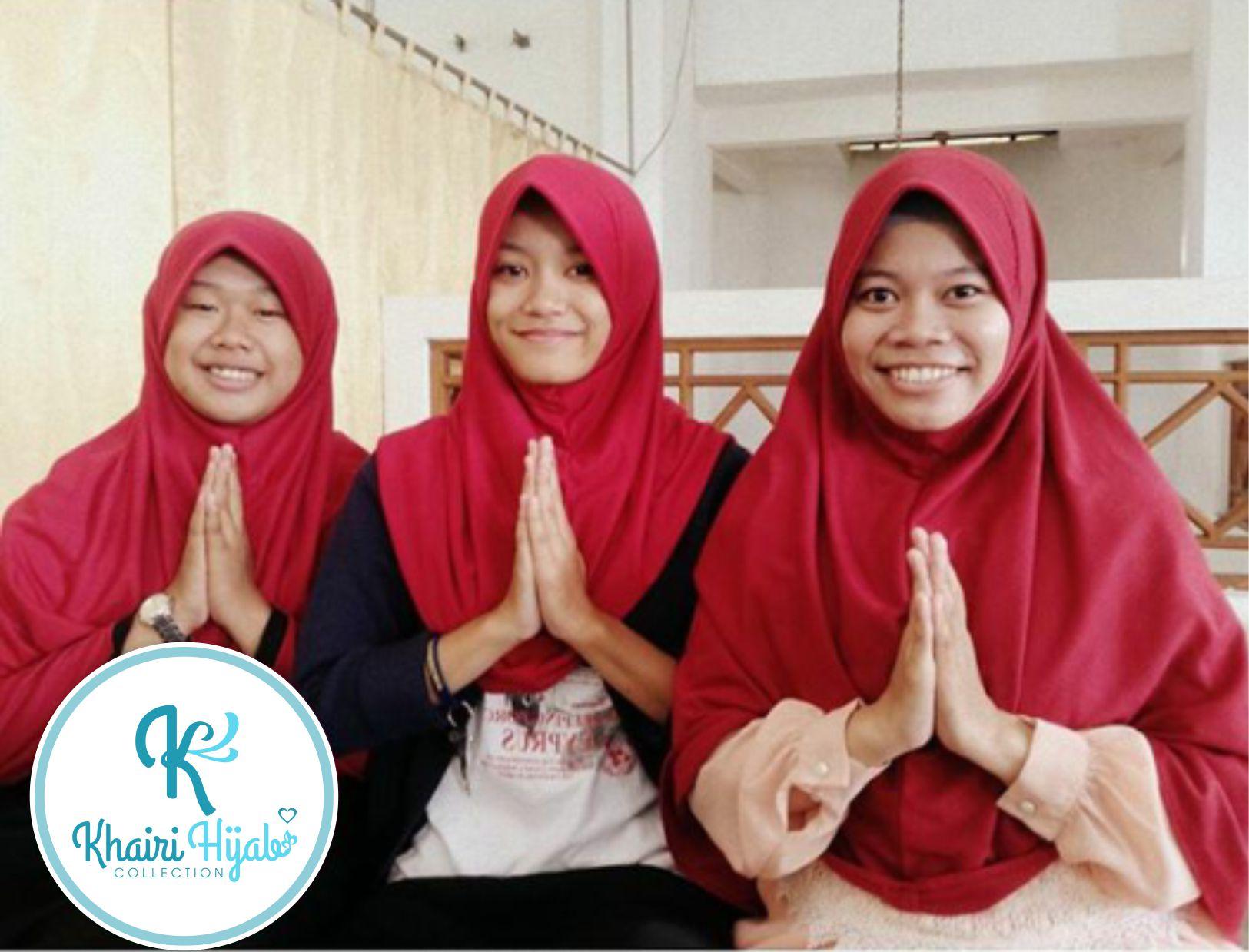 Jual Jilbab Polos Hijab Kaos Jilbab adem Jilbab Sekolah Size XXXL Khairi Hijab