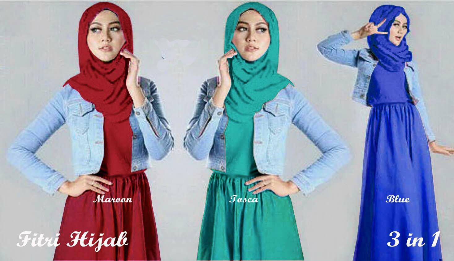 Fitri Hijab blazer Jeans Maxi
