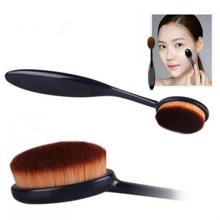 Kuas MakeUp Kosmetik Oval Brush Foundation Make Up Cosmetic Tool thumbnail