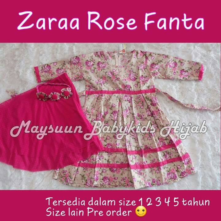 Set Gamis Jilbab New Zaraa Series Dress Hijab Maysuun Baby (Pre Order)