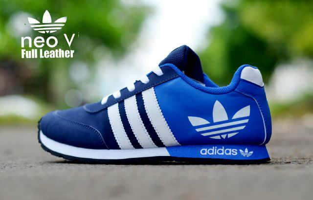 Jual sepatu adidas neo v racer blue navy olahraga lari casual pria ... d92035afc2