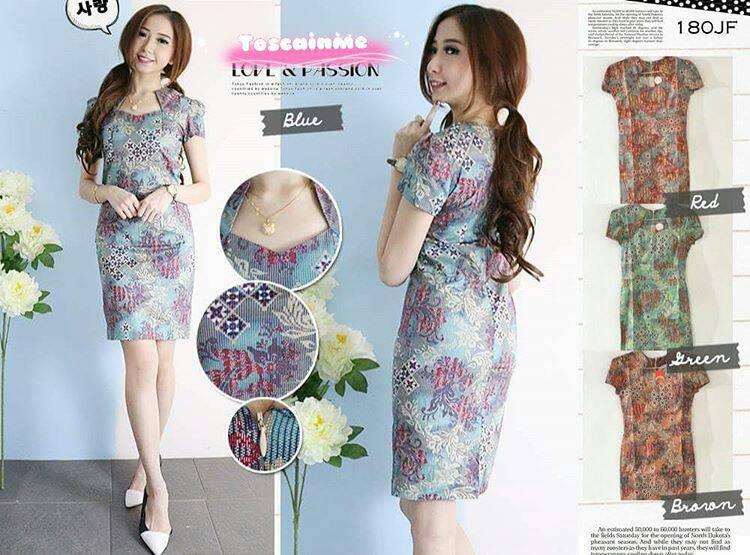 Baju Dress Batik Wanita - Gamis Brokat b0799521a6