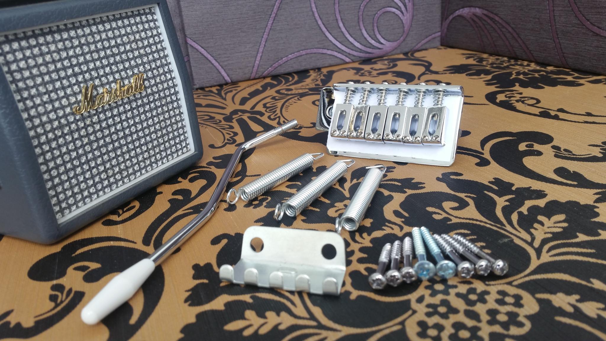 Harga Bridge Tremolo Down Semi Updown Kiri Kanan Kidal Gitar Listrik Fender Chrome