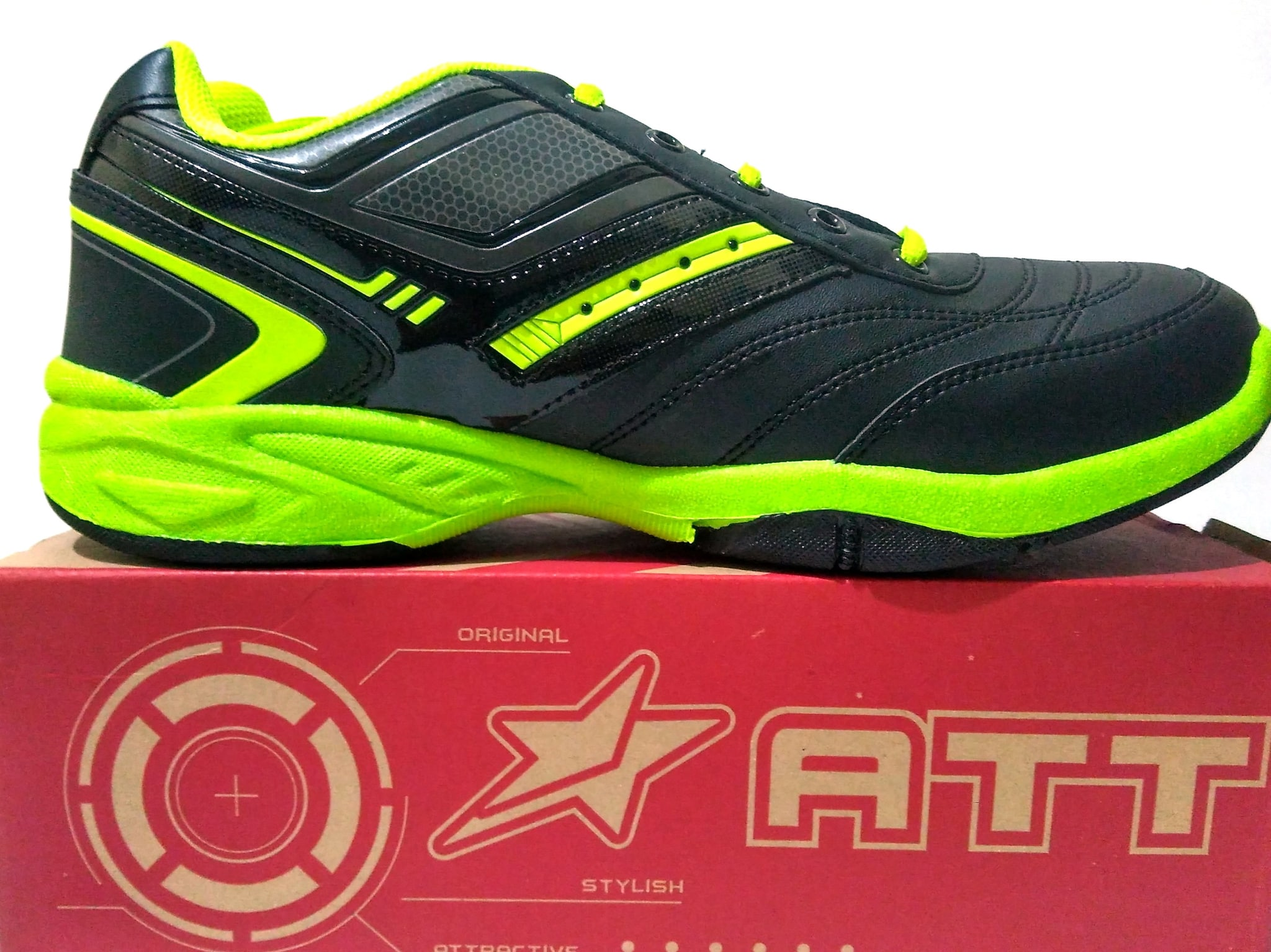Pro Att Sepatu Olahraga Warna Abu Hijau elevenia Source · Jual SEPATU ATT  SBC 641 HITAM 8db49b3694
