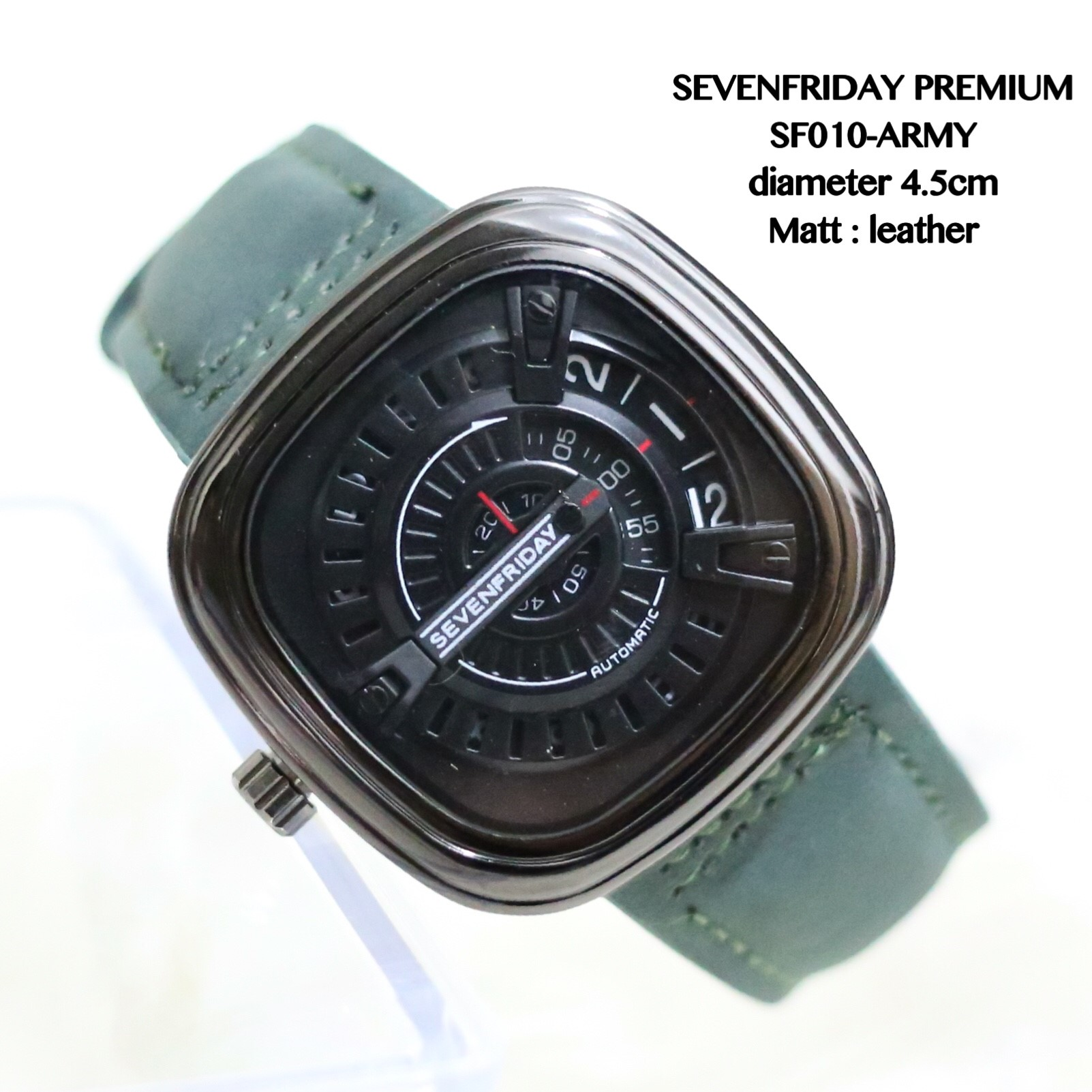 jam tangan seven friday leather chrono detik aktif premium watch