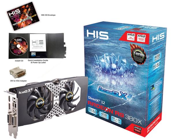 HIS Radeon HD R9 380X ICEQ X2 TURBO 4GB DDR5