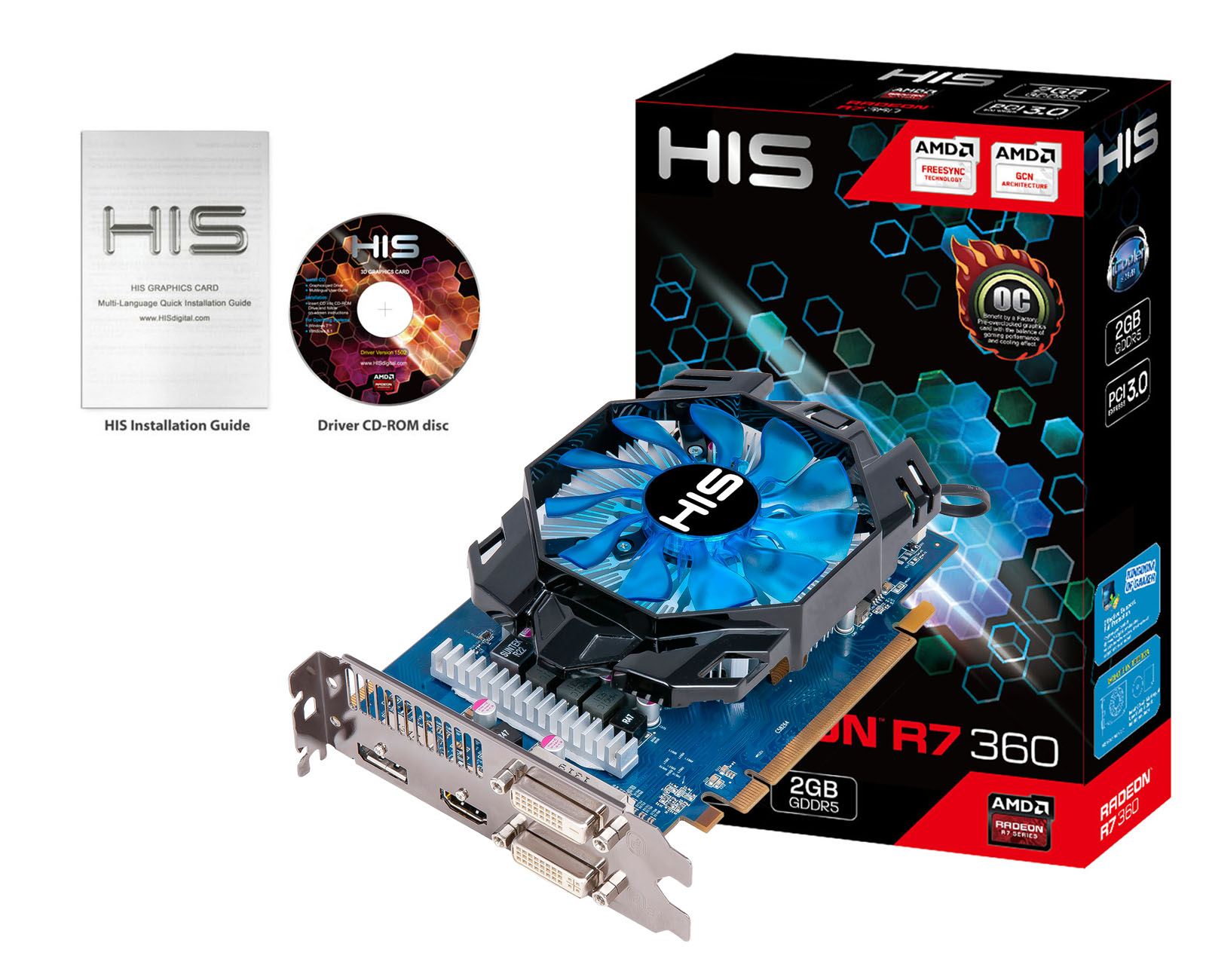 HIS Radeon HD R7 360 ICooler OC 2GB DDR5