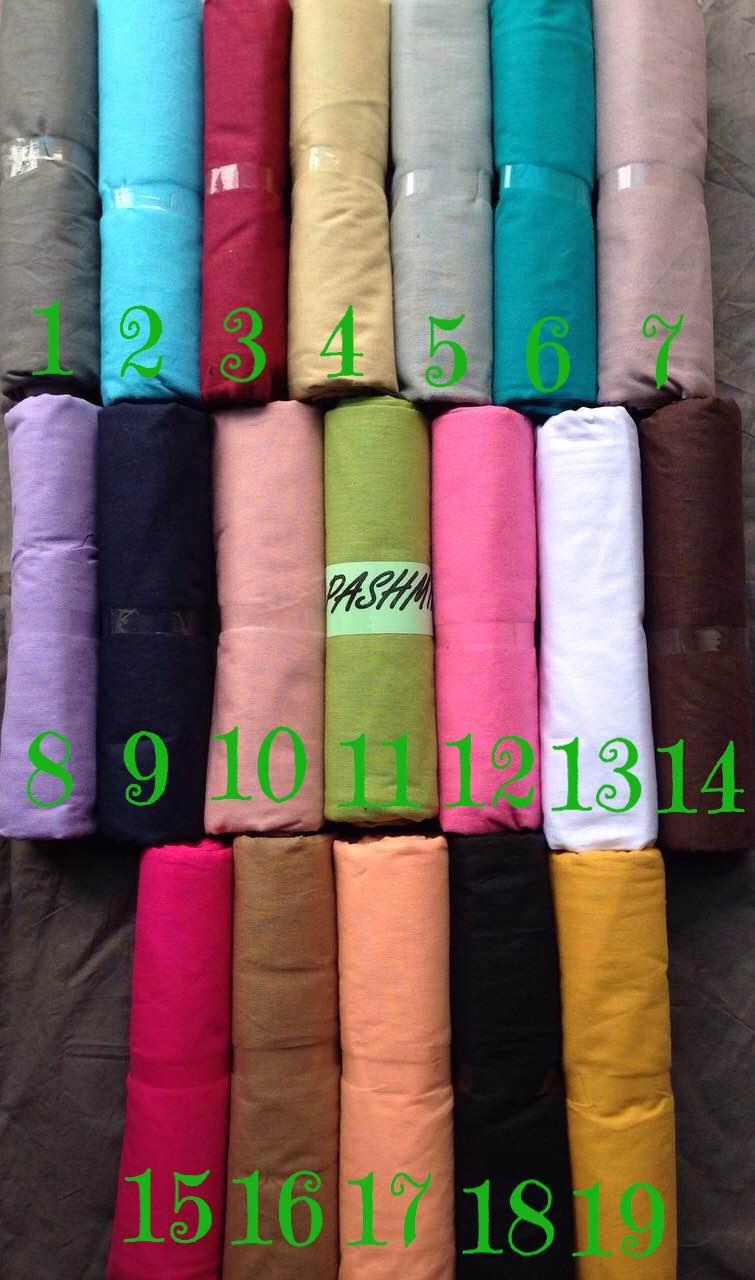 kerudung / hijab / jilbab / pashmina / katun / ima / polos