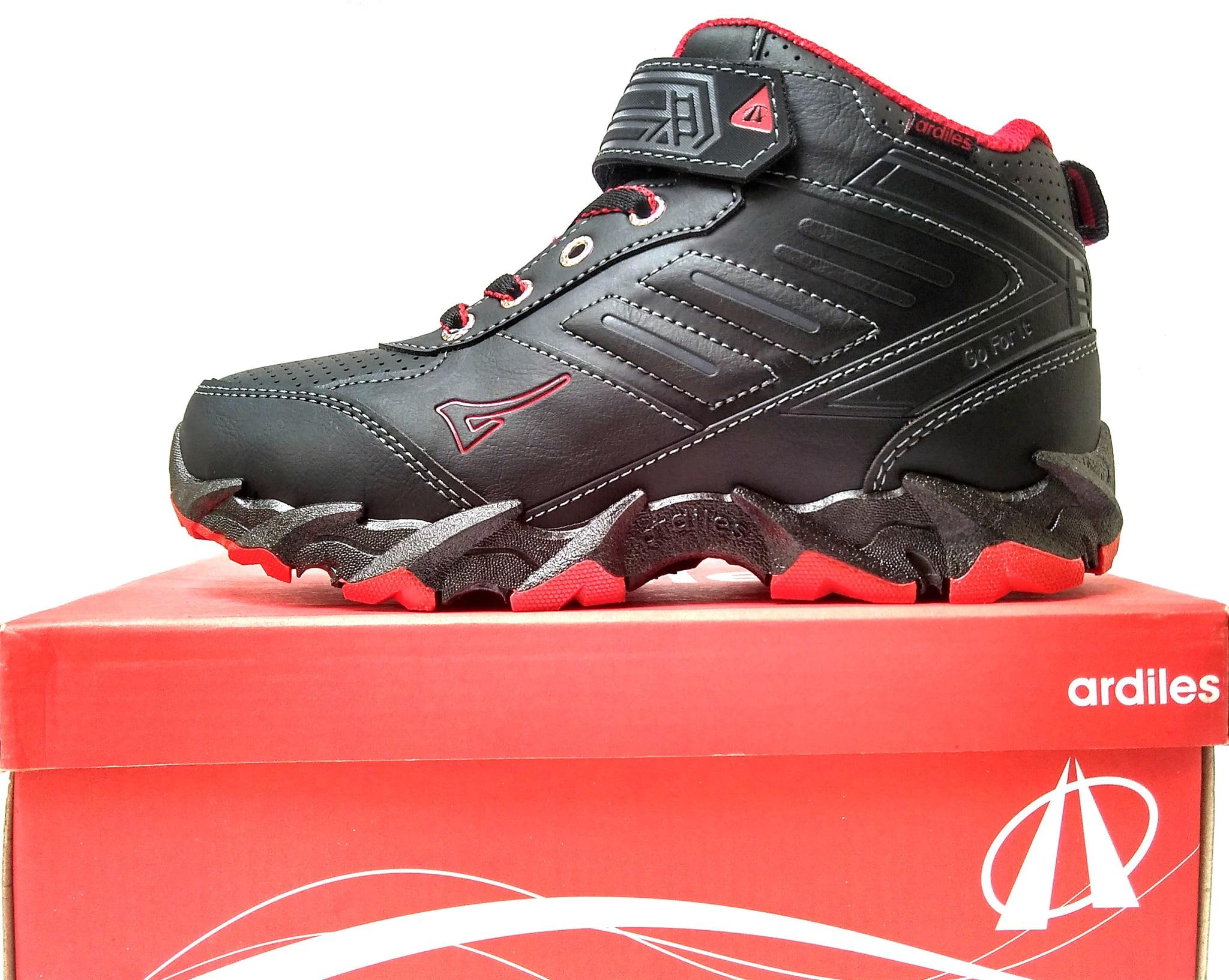 Jual Sepatu Ardiles Gustavo Black Red Sepatu Anak Sepatu Sekolah