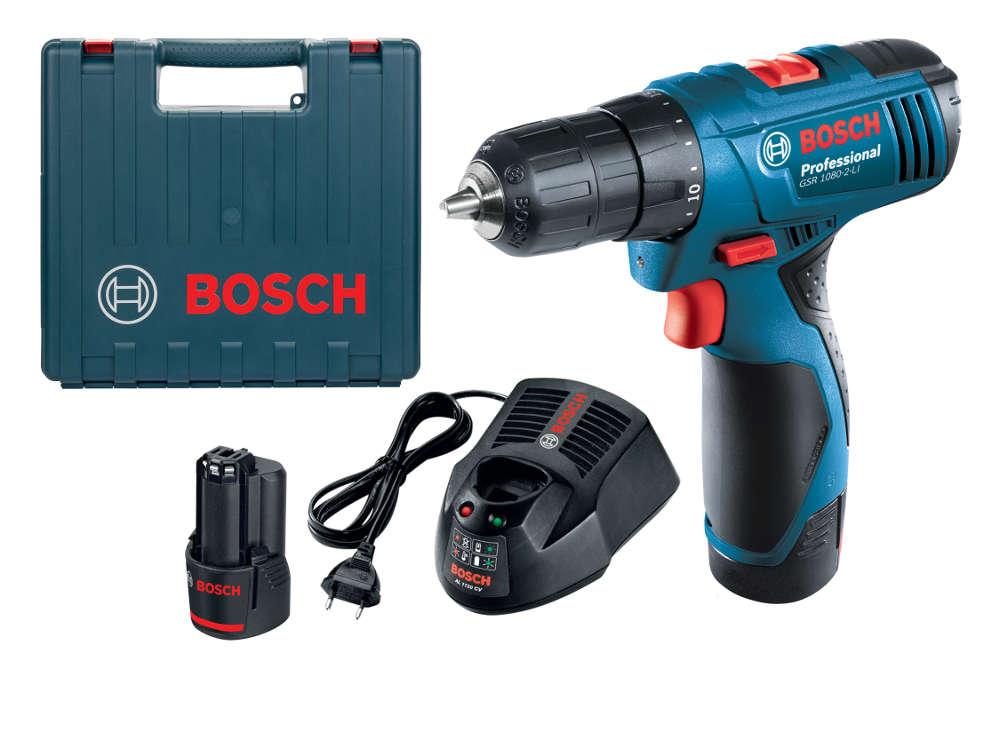 BOSCH GSR1080-2-LI GSR 1080 Mesin Alat Bor Cordless Baterai Kayu Obeng