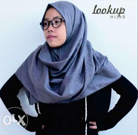 Jilbab Pashmina Denim PD1 (Grosir Kerudung/Hijab segi empat Murah)