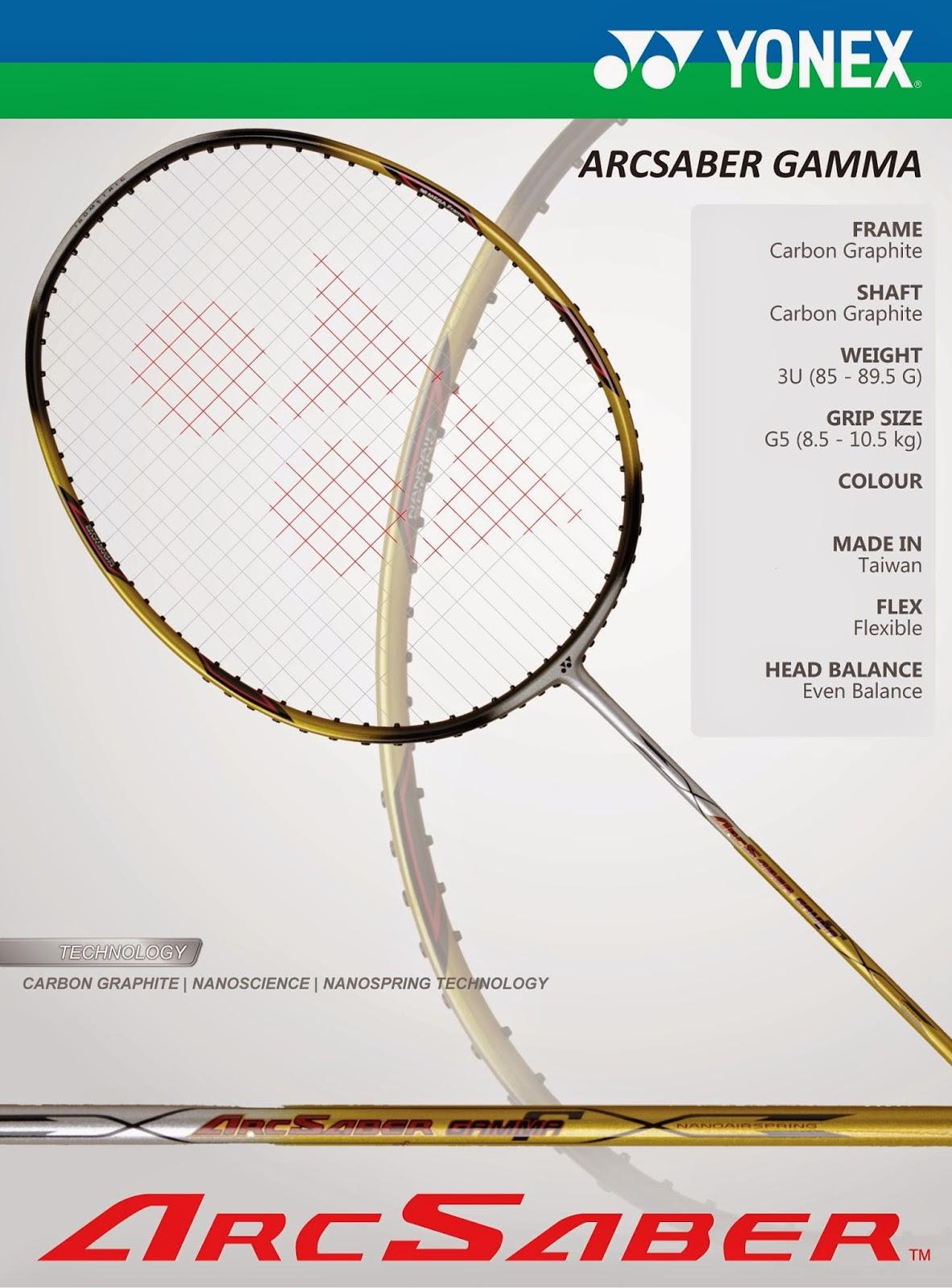 Jual Raket Badminton Yonex Arcsaber Gamma 100 Original